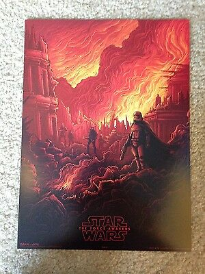 STAR WARS THE FORCE AWAKENS: AMC Rare Posters IMAX 9.5 by 13 3 of 4 Brand New!
