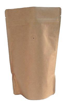 250g/8oz Kraft Paper Stand up Zipper Coffee Bags Coffee Pouches with Valve 50pcs