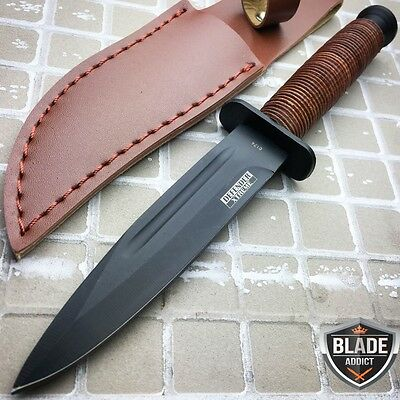 "9"" Military Tactical ARMY Survival Fixed Blade Hunting Rambo Knife + Sheath NEW"
