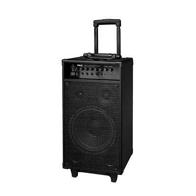NEW Pyle PWMA1080IBT 800W Wireless Portable Bluetooth PA System with iPod Dock