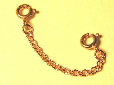 """9ct Rose Gold Heavy Safety/ Extension Chain  2"""" Extender 4 - Necklaces"""