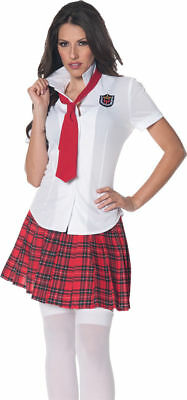 Morris Costumes School Girl Costume Adult Womens Halloween Fancy Dress Size S