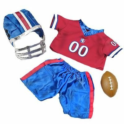 """AMERICAN FOOTBALL OUTFIT  FITS 16""""/40cm TEDDY BEARS & BUILD YOUR OWN BEARS"""