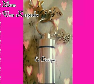 Cremation Jewellery. Ashes Urn Keyring MUM Memorial  Mothers Day remembrance