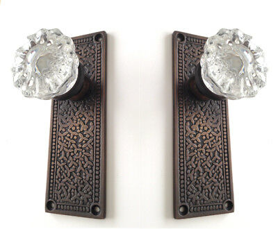Upgrade to Rousso Reproduction's French Door Tall Backplate and Crystal Knobs