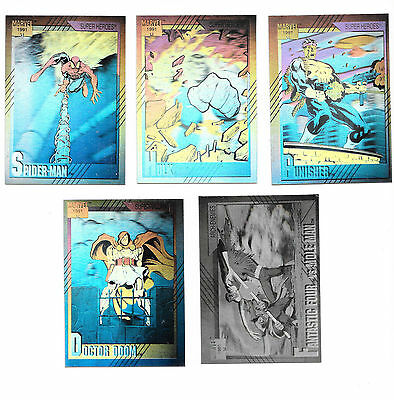 Marvel Universe 2 1991 Impel Set of 5 Hologram Chase Cards H1-H5 INSERT SET NM