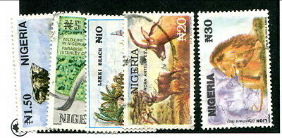 Used Nigeria #615A - 615E (Lot #10586)