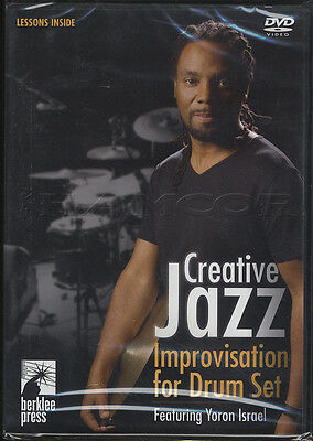 Creative Jazz Improvisation for Drum Set Tuition DVD Yoron Israel Learn To Play