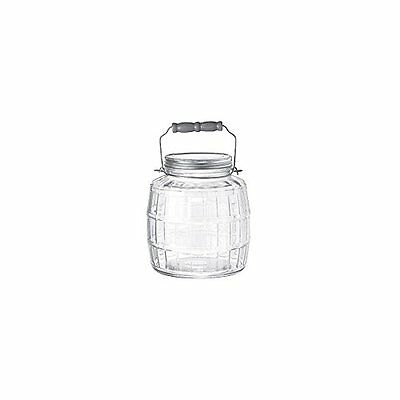 Anchor Hocking 1 Gallon Glass Barrel Jar With Lid, New, Free Shipping