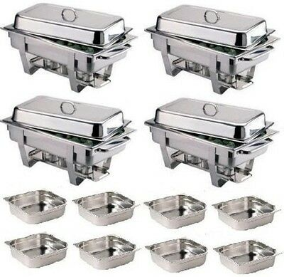 Pack Four Olympia Chafing Dishes & Eight Extra 1/2 Pans *Free Next Day Delivery*