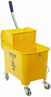 24 Quart Yellow Mop Bucket & Wringer