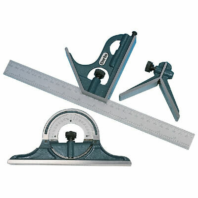 CLARKE CM170 Metalwork Combination Set Square with 12 inch stainless steel rule