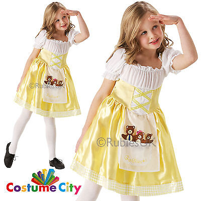 Childrens Girls Goldilocks Costume World Book Day Fairytale Fancy Dress Party