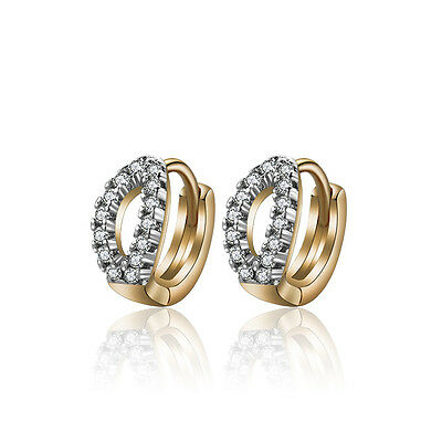18 k Gold Plated Jewellery Small Baby Girls Hoops Beautiful First Earrings E962a