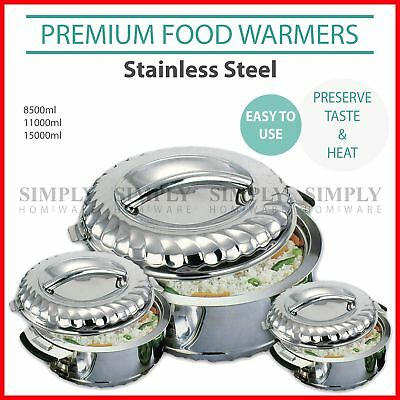 Premium Portable Food Warmers Warmer Stainless Steel Insulated Hot Pot Indian