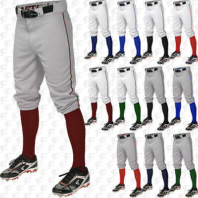 Easton Youth Boys Pro + Knicker Baseball Pants With Piped Piping Braid A167106