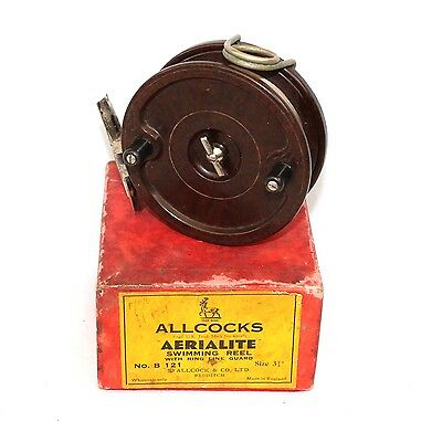 "3.3/4"" Allcock's AERIALITE centerpin float fishing reel with Propeller latch V/F"