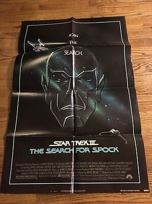 Star Trek III 3 The Search For Spock Original One Sheet Movie Poster