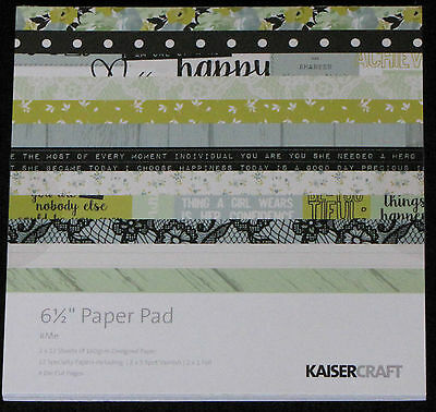 "Kaisercraft '#ME' 6.5"" Paper Pad Flowers/Floral/Girly/Journal *NEW* KAISER"