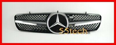 00~06 Mercedes W215 CL55 CL500 CL600 Grill Grille AMG Black - Distronic type