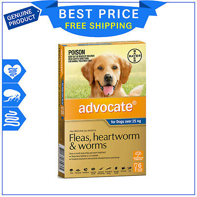 ADVOCATE for Extra Large Dogs Over 25 Kg BLUE 6 Pipettes by Bayer
