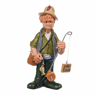 Funny Fisherman Figurine Statue Occupation WARREN STRATFORD