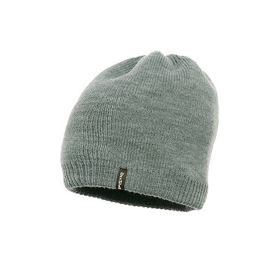 DexShell Solo Windproof Waterproof Beanie Hat One Size GREY