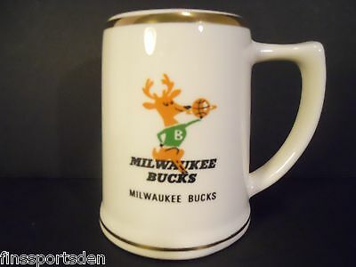 Vintage MILWAUKEE BUCKS Basketball Beer Mug - Rare Hard-To-Find Stein
