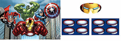Avengers Assemble | Hulk | Iron Man Party Game for 2-48 Players - Pin the Tail