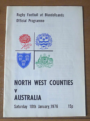 1976 - North West Counties v Australia, Touring Match Programme.