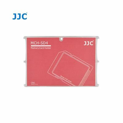JJC MCH-SD4 Ultra Slim Credit Card Size Memory Card Holder Hard Case for 4 x SD