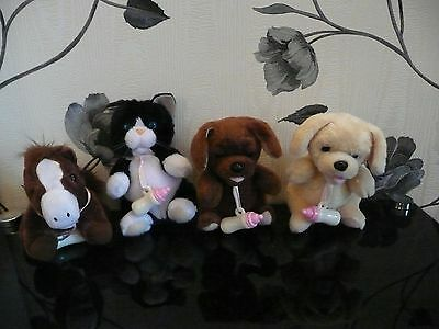 Animagic Feed Me Pets Beige Brown Puppy Dog Brown Pony Grey Bunny B&w Kitten Cat