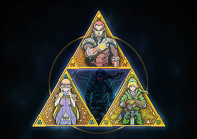 Poster A4 Plastifie-Laminated(1 Free/1 Gratuit)*video Game Legend Of Zelda Trifo
