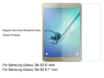 "Regular Ultra Clear/Tempered Glass Screen Protector For Galaxy Tab S2 8"" 9.7"""
