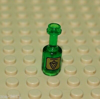 Lego Transparent Green Bottle with Grape pattern NEW!!!