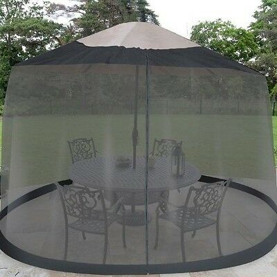Outdoor Umbrella Table Screen Netting 9' ft Mosquito Patio Cover