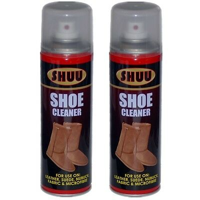 2 x Shoe Cleaner Leather Suede Nuback Fabric Microfibre UGG Boots Spray Can 7061