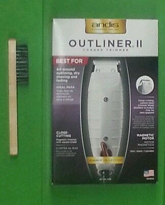 Andis Outliner Trimmer with Clipper Brush