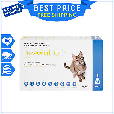 Revolution Blue for Cats 2.6 - 7.5 Kg 6 Doses + 1 FREE Dose
