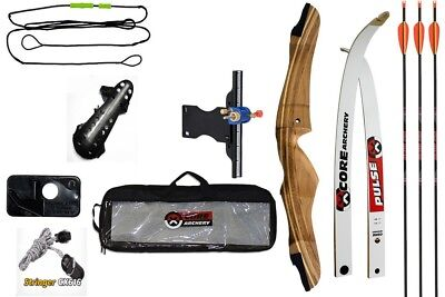 Aim Archery Package A Beginners Mens Recurve Bow Set Bowset