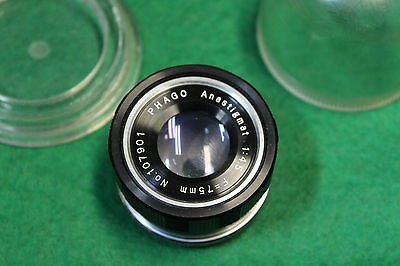 PHAGO ANASTIGMAT 1:4.5  F=75 mm No.107901 ENLARGER LENS in case