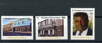 Nevis 2015 MNH Bank of Nevis 30 Years 3v Set Buildings Architecture