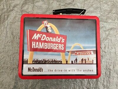 "Old Metal McDonald's Hamburgers Lunchbox 6"" by 8"" 1998"