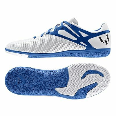 ADIDAS MESSI 15.3 IN INDOOR FUTSAL YOUTH SOCCER SHOES Running White/Prime Blue