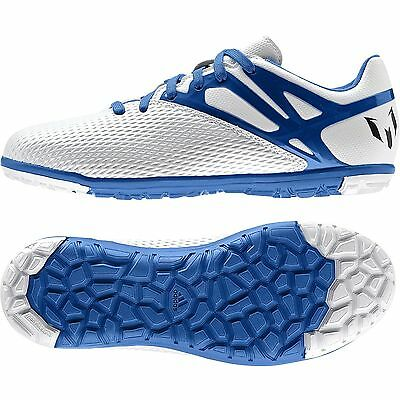 ADIDAS MESSI 15.3 TF TURF FUTSAL YOUTH SOCCER SHOES Running White/Prime Blue