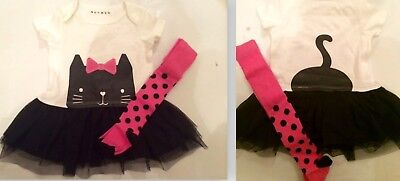 new baby girls cat tutu dress tights set age 6-9 9-12 12-18 18-24 months