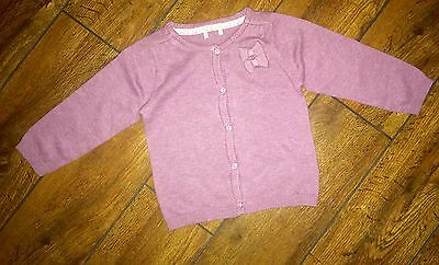 New Baby girls pretty bow lilac cardigan party age 3-6 6-9 9-12 months 2-3 years
