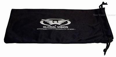 Large Global Vision Goggle Microfiber Storage Cleaning Pouch Carry Case