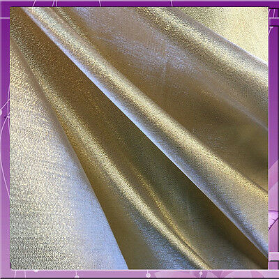 """60"""" w GOLD Crystal lame Fabric by the yard"""