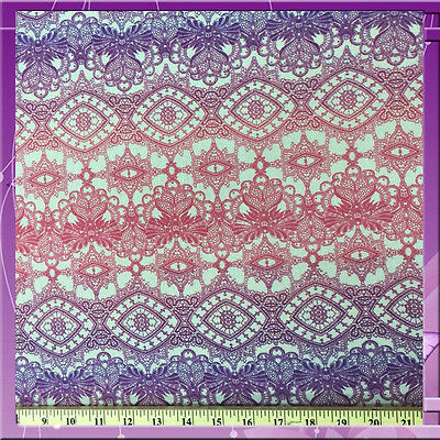 100% Rayon Crepe Gorgeous Hue Of Pink Purple 54 Inches Wide Fabric Sold Bty